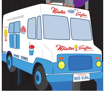 Ice Cream Truck Banner